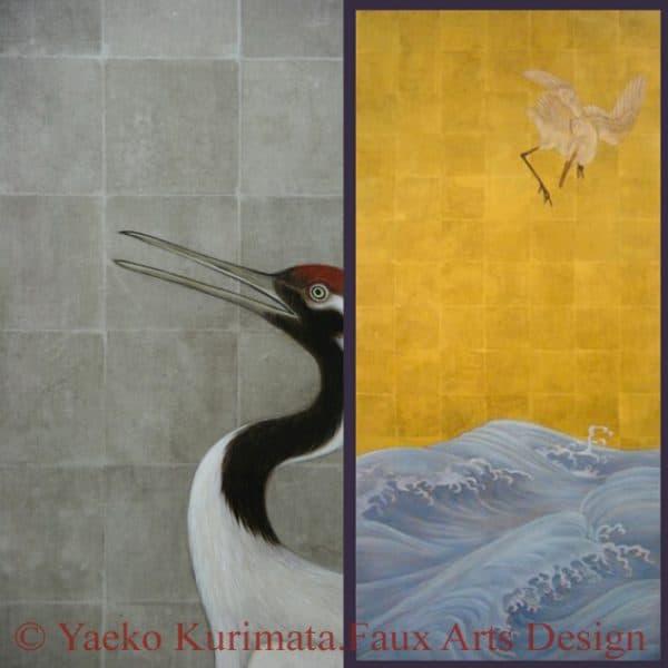 Yaeko's Golden Squares stencil suggested colour ways
